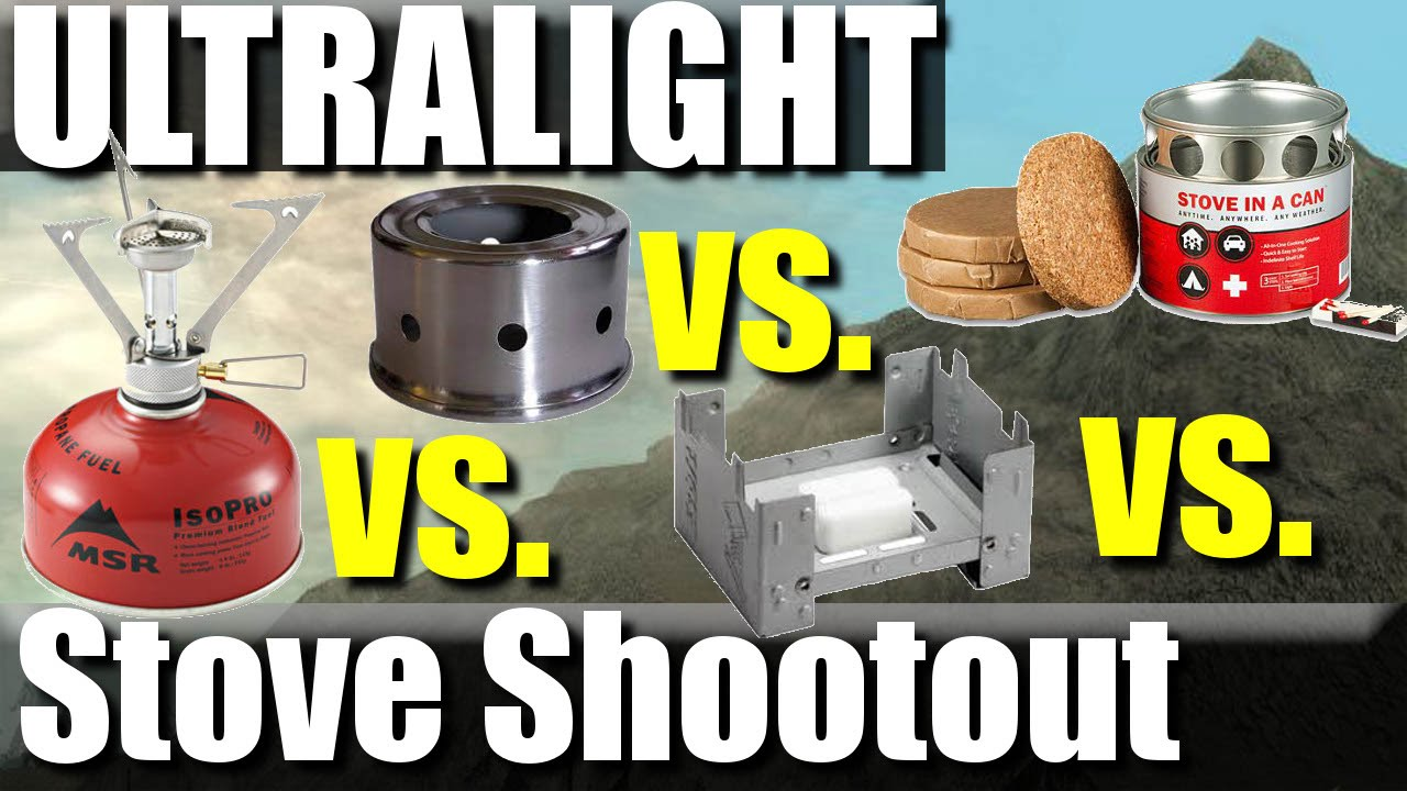 Ultralight Backpacking Stove Comparison: MSR vs  Alcohol vs  Esbit vs   Stove in a can