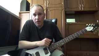 Основы электрогитары (Ненужное видео)(Народ не хочет учить основы игры на электрогитаре. Все хотят сразу