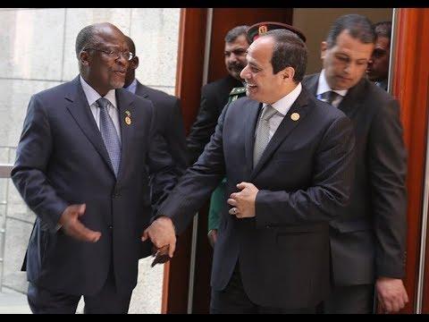 Hotuba ya Rais Abdel Fattah El-Sisi wa Mirsi na Rais Magufuli Ikulu -Dar