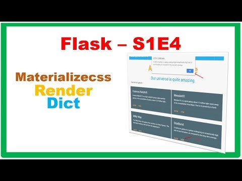 Flask S1E4 :: Pass And Render Dict In Materializecss Cards