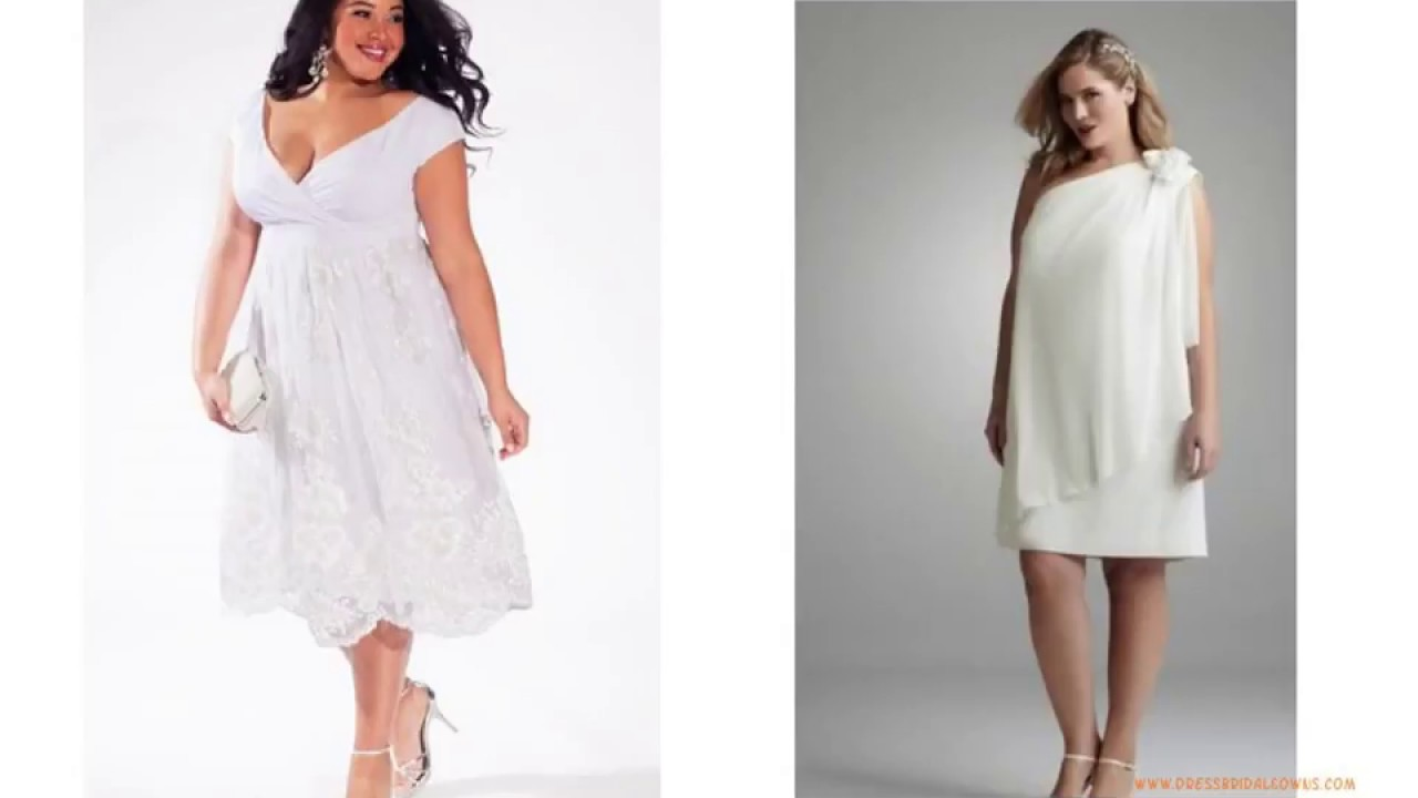 Plus size Short Casual Wedding Dresses