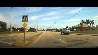 Driving from Downtown Cape Coral, FL up Del Prado Boulevard