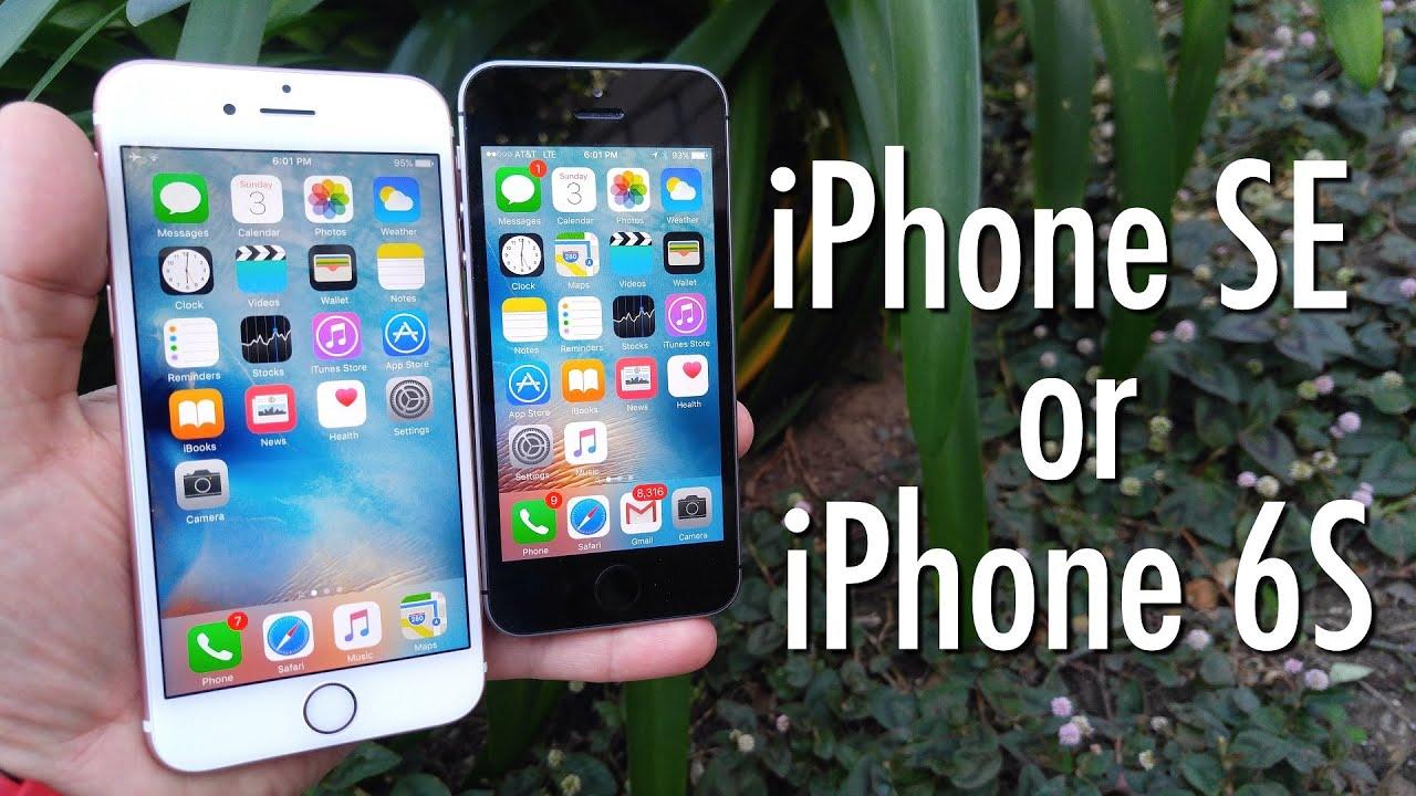 IPHONE SE KAMERA VS 6S