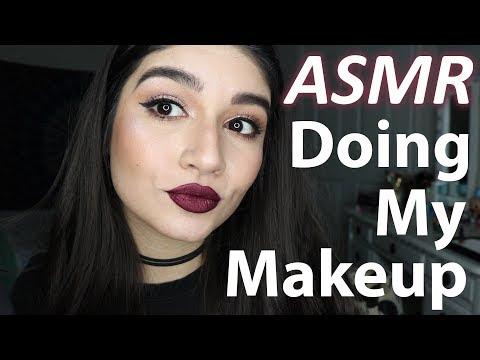 ASMR Doing My Makeup #5 || TAPPING, RAMBLE,  WHISPERED  || TenaASMR