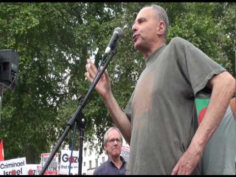 John Rose at Rage Against Israel demo, London 05-6-10