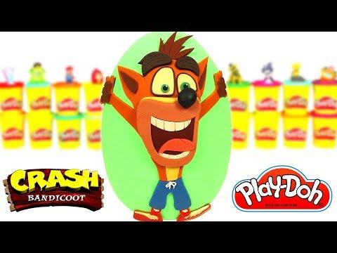 Huevo Sorpresa Gigante de Crash Bandicoot en Español de Plastilina Play Doh