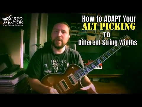 How to Adapt Your Alternate Picking Technique to Different String Widths | Free Guitar Lesson