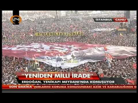 1-Recep Tayyip Erdoğan istanbul Da 2 Milyon Kişi Tümünü izle Rekor Dev Mitingi Yenikapi Da-23.3.2014