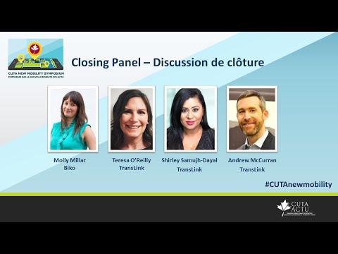 CUTA New Mobility Symposium Closing Panel