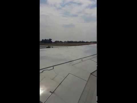 Боинг. Взлёт из аэропорта Краснодара в Египет.