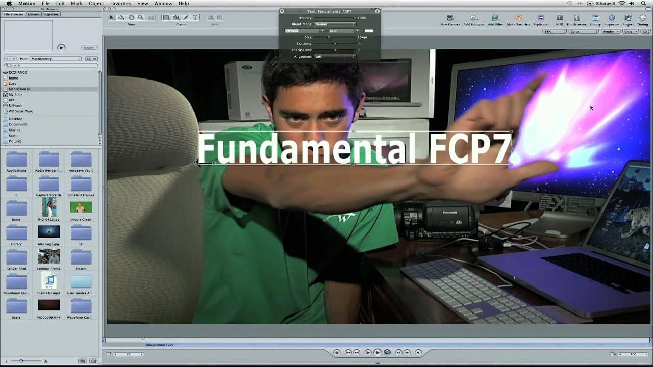 Appearing Text Effect - Final Cut Studio
