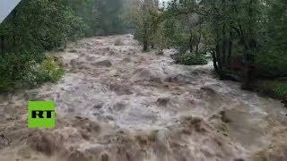 Temporal deja fuertes inundaciones en el este de EE.UU.