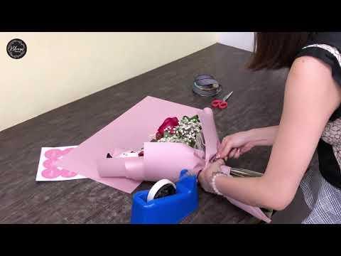How to Wrap a Graduation Bouquet: Rose Bouquet || Wrapping Technique & Ideas Mp3