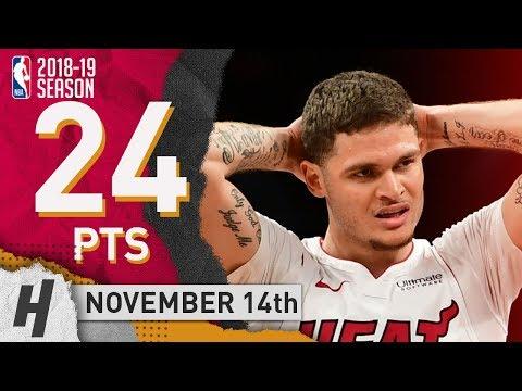 Tyler Johnson Full Highlights Heat vs Nets 2018.11.14 - 24 Pts, 5 Rebounds!