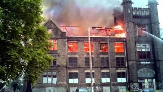 Old Edison High School bldg fire