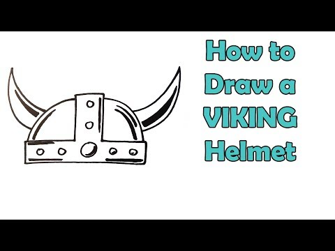 How To Draw A Viking Helmet - VERY EASY - FOR KIDS