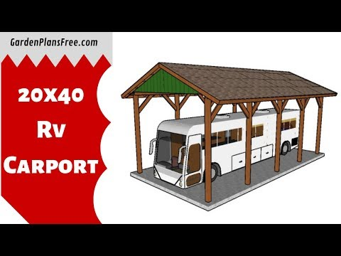 How to build a 20x40 RV Carport