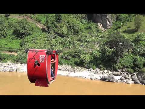 Tuin Cable Car over Trishuli River Nepal