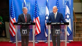 From youtube.com: US National Security Adviser Bolton and Israeli PM Netanyahu agree on pressuring Iran {MID-342316}