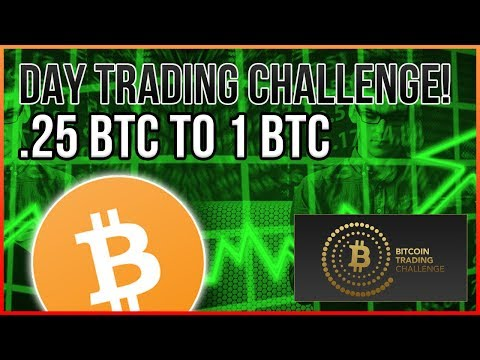 .25 BTC To 1 BTC Day Trading Challenge! - Livestream Part 1
