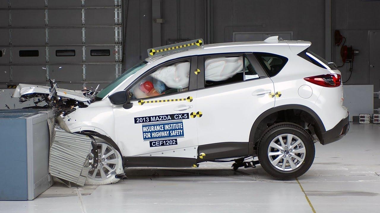 2013 Mazda CX-5 moderate overlap IIHS crash test - YouTube