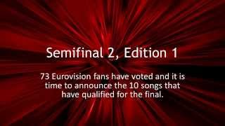 Eurovision Song Contest 2015 - Edition 1 - Semifinal 2 Qualifiers