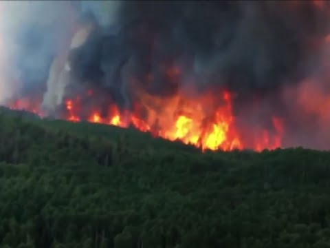 Raw: Video Shows Pilot's View of Utah Wildfire