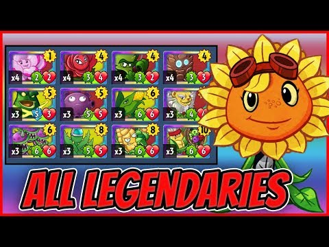 ALL Legendary Cards Challenge - Solar Flare Set 3| Plants vs Zombies Heroes Gameplay (8/22)