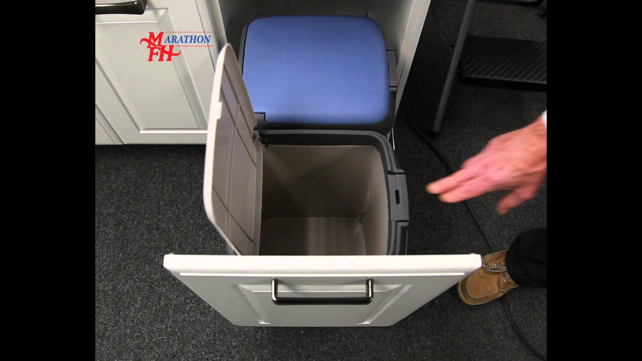 Double Bin Waste And Recycle Pullout With Soft Closing