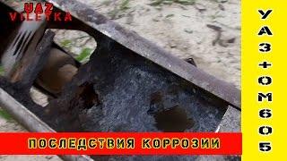 Последствия коррозии рамы УАЗа