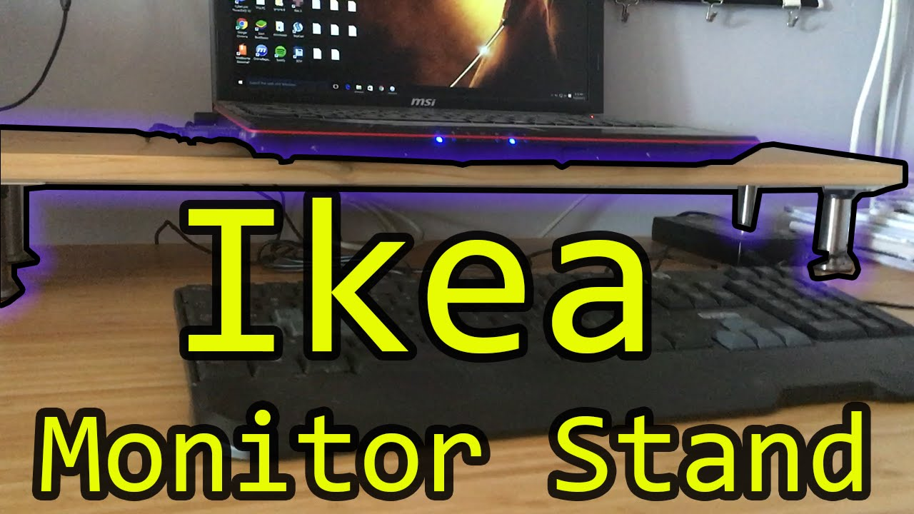 Monitor Stand Ikea How To Build Monitor Stand 3 Minutes Tutorial