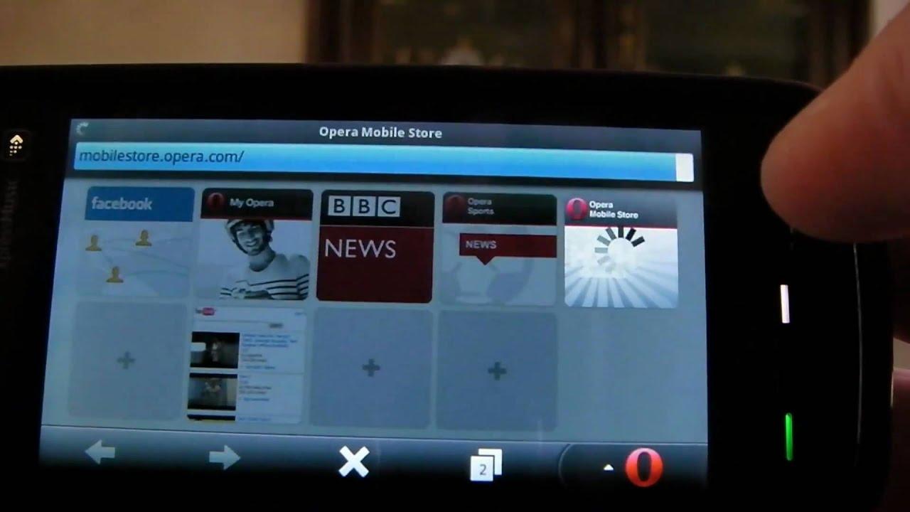 Opera Mobile 11 on nokia 5800 (symbian)