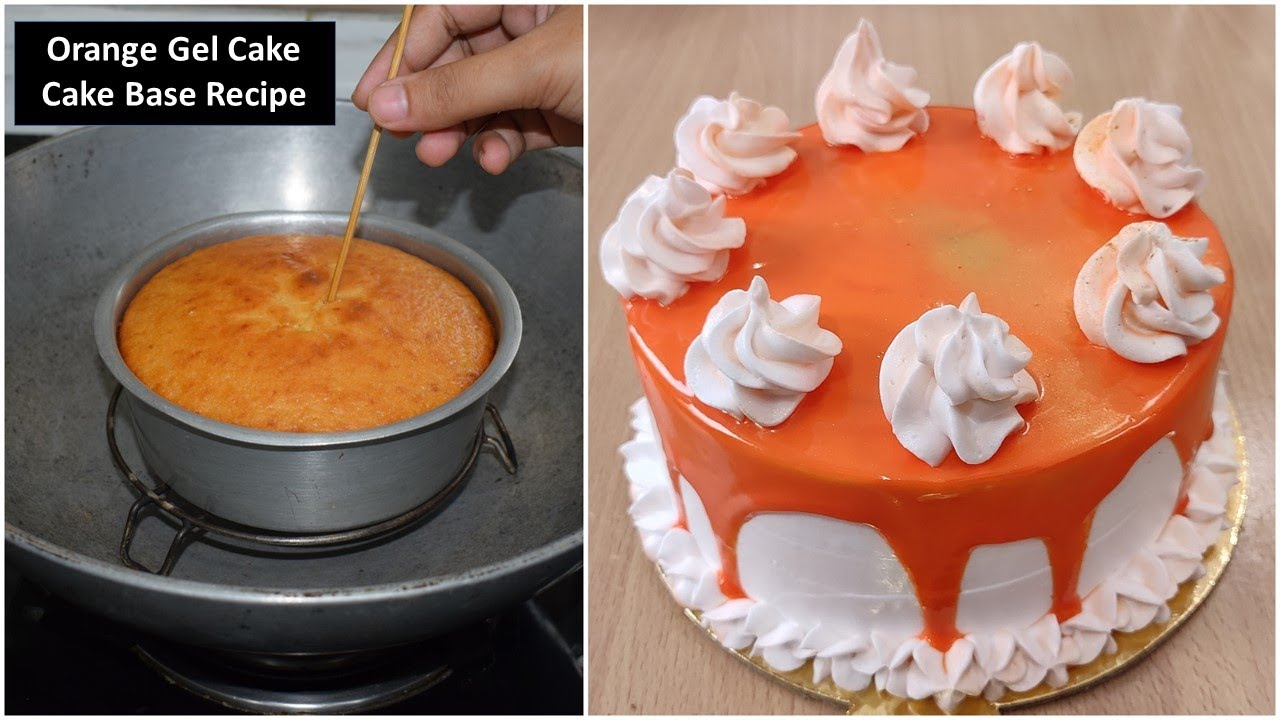आसान घर का बना केक - Cake / Orange Gel Cake / Homemade Cake and It's Icing | Recipeana Recipes