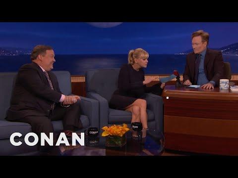 Anna Faris Interviews Conan & Andy  - CONAN on TBS