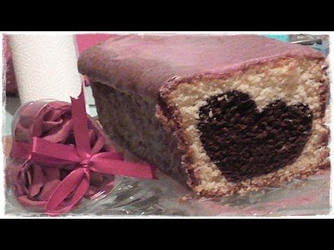 Herzkuchen Mit Pinker Kirschglasur Marmorkuchen Geschenkidee Fur