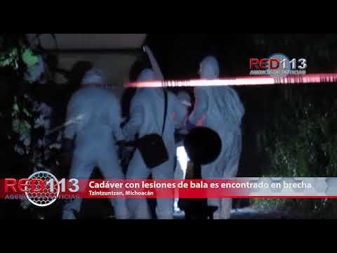VIDEO Cadáver con lesiones de bala es encontrado en una brecha de Tzintzuntzan