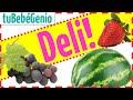 Las Frutas Para Niños En Español Nombre de Todas Las Frutas Bits de Inteligencia +Lectura Método Dom