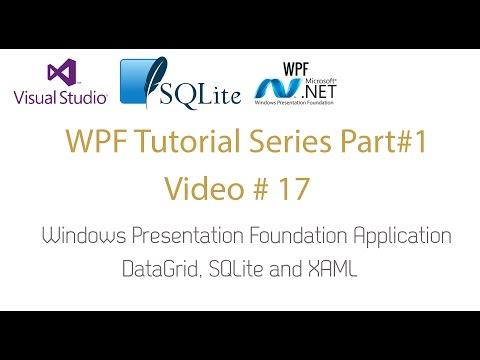 WPF Application Datagrid SQLite Offline Database - WPF