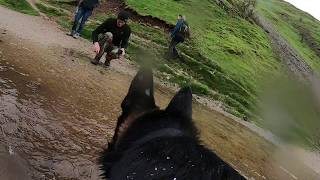 Dovedale, Peak District, seen from dog shoulders , Timelapse gopro 7 Lexi German Shepherd