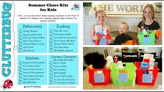 Kids Summer Morning Routine - Chores, Kits and Checklists