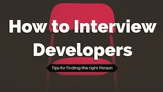 How to Interview Game Programmers - Just a few Tips