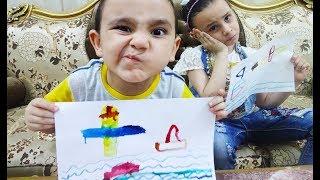 تحدي الرسم في دقيقة مع حمودي ومريومة!!