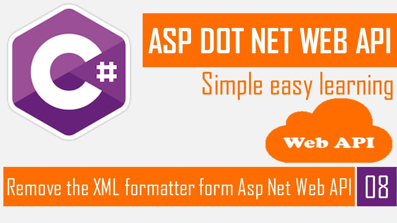 Remove the XML Formatter from ASP.NET Web API