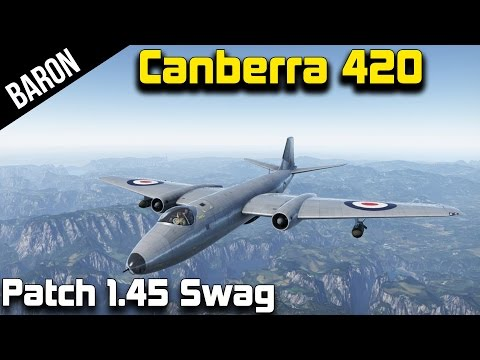 War Thunder Jets - Canberra B(I). Mk. 6 - British Jet Bomber with Guns! (War Thunder 1.45 New Jet)