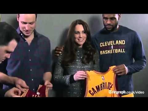 Kate's reaction to LeBron James' royal protocol error