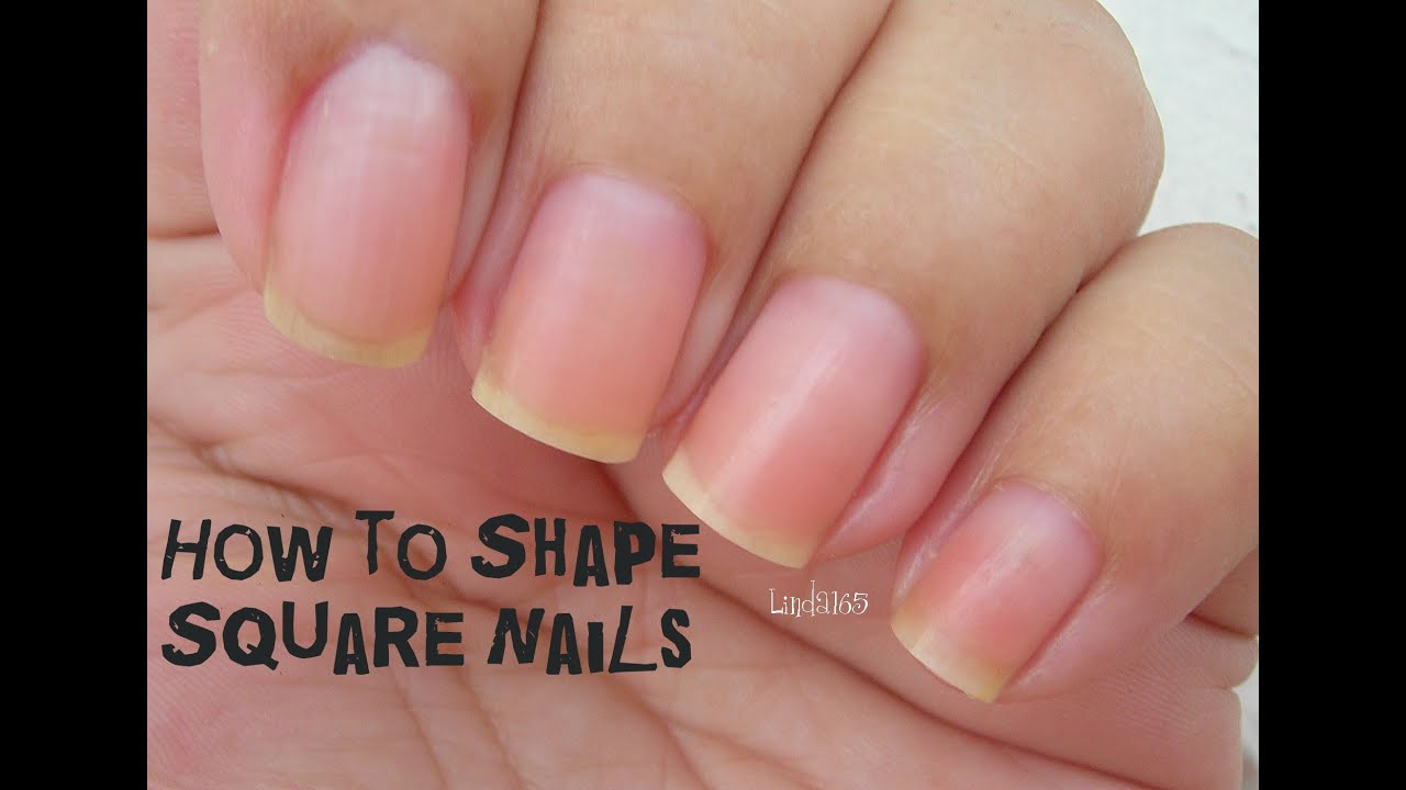 FAQ - How to Shape Square Nails - Como darle forma cuadrada a las ...