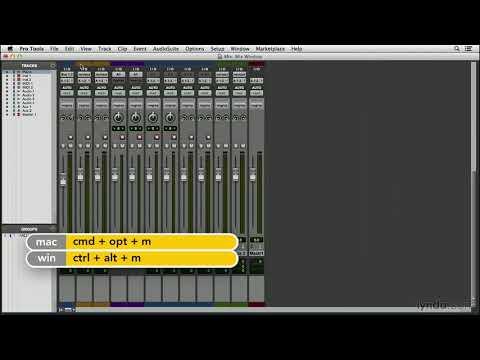 Pro Tools 11 tutorial: Exploring the Mix window | lynda.com