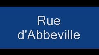 Rue d'Abbeville Paris Arrondissement  9e, 10e