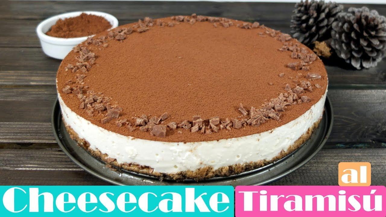 Cheesecake o tarta de queso al tiramis receta fcil sin horno cheesecake or tiramisu cheesecake easy recipe without oven forumfinder Image collections