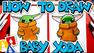 How To Draw Baby Yoda From The Mandalorian